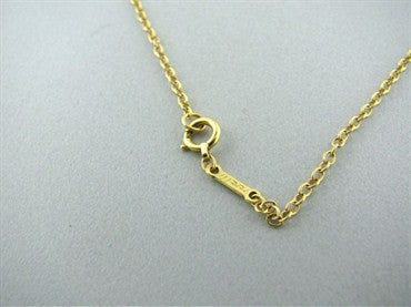 image of Tiffany & Co Peretti 18K Gold Large Open Heart Necklace