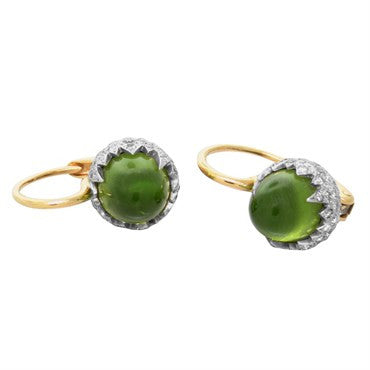 thumbnail image of New Pomellato Chimera 18k Gold Diamond Peridot Earrings
