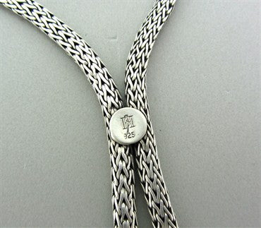 image of Estate John Hardy Sterling Silver Drop Pendant Necklace