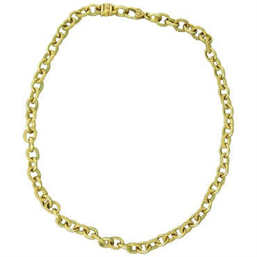 image of Judith Ripka Diamond 18K Gold Chain Link Necklace