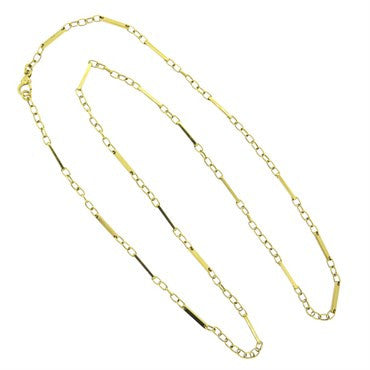 image of Pomellato 18k Gold Long Link Necklace 38 Inch