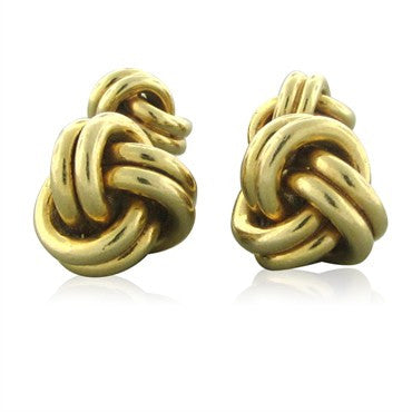 image of Vintage Tiffany & Co 14K Yellow Gold Knot Cufflinks