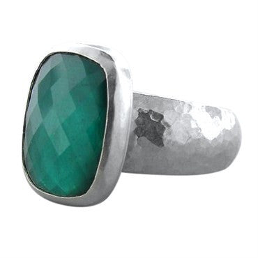 image of New Gurhan Platinum 10ct Green Tourmaline Ring