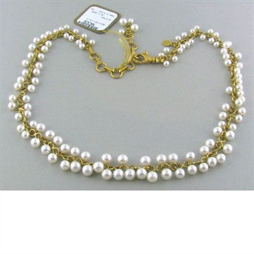 image of New Gurhan 24k Gold Emerald Pearl Necklace