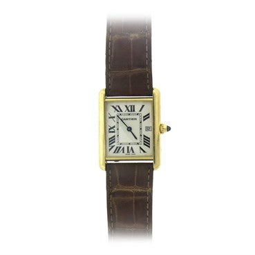 Cartier Yellow Gold Tank Louis Quartz Watch