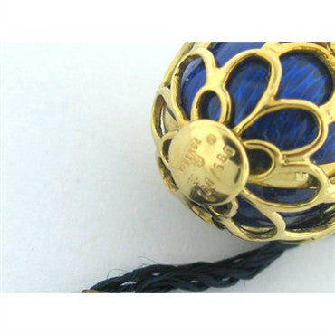 thumbnail image of Faberge 18k Gold Enamel Diamond Egg Pendant Charm