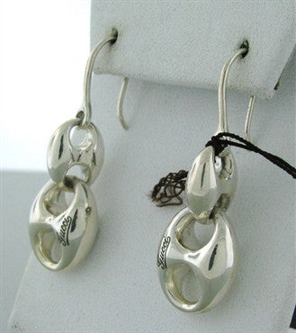 thumbnail image of Brand New Gucci Sterling Silver Chain Drop Earrings With Tags