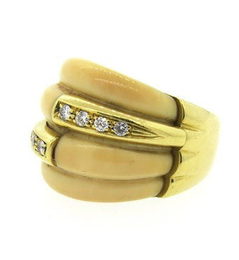 thumbnail image of 1970s H. Stern Gold Diamond Dome Ring