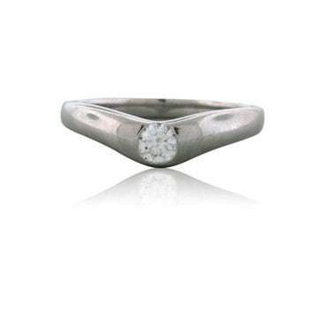 thumbnail image of Estate Tiffany & Co Elsa Peretti Platinum Diamond Ring