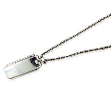 image of Tiffany & Co. Sterling Silver Rectangular Pendant Necklace