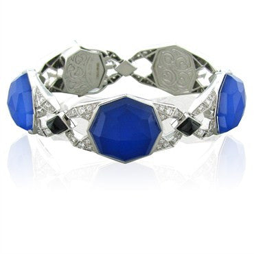 thumbnail image of Stephen Webster 18k Gold Lapis Crystal Onyx 1.50ct Diamond Bracelet