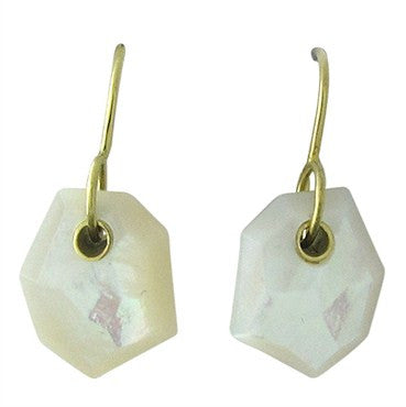 image of New Ippolita 18K Yellow Gold Mother Of Pearl Drop Earrings
