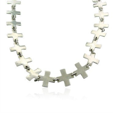 thumbnail image of Robert Lee Morris RLM Sterling Silver Long Link Necklace