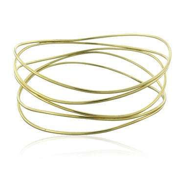 thumbnail image of Tiffany & Co Elsa Peretti 18K Yellow Gold Wave Bangle Bracelet