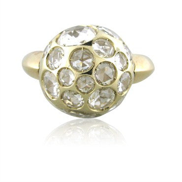 image of New Pomellato Harem 18K Gold Rock Crystal Ring