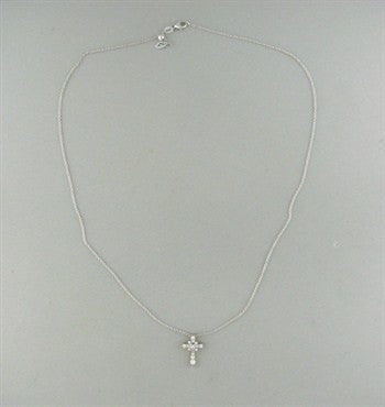 thumbnail image of New Hearts On Fire Divine Gothic Cross Diamond Pendant Necklace