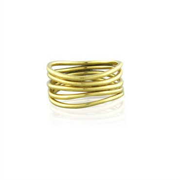 image of Estate Tiffany & Co Elsa Peretti Wave 18K Gold Ring