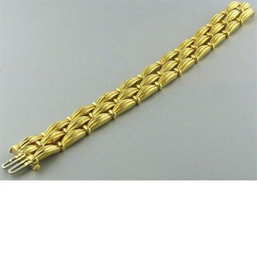 thumbnail image of Tiffany & Co Classic 18k Gold 3 Row Bracelet