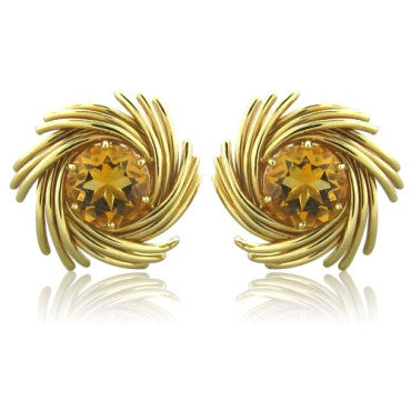 image of Tiffany & Co Schlumberger Studios Citrine Earrings