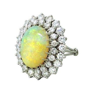 thumbnail image of Opal Diamond 18K Gold Cocktail Ring