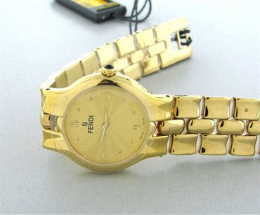 image of New Fendi Womens 18k Gold Plated Stainless Steel Watch F88250