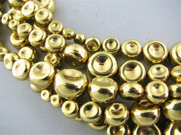 thumbnail image of Robert Lee Morris 18K Gold Multi Strand Bead Necklace