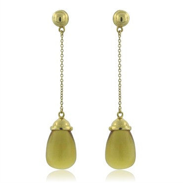 thumbnail image of Tiffany & Co Paloma Picasso 20 Carat Citrine Drop Earrings
