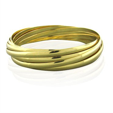image of Tiffany & Co Paloma Picasso Calife 18k Gold Bangle Bracelet