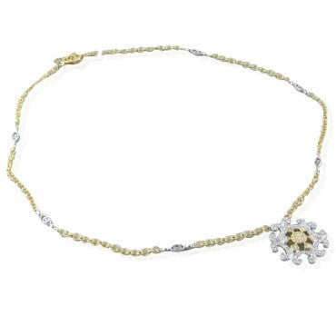 thumbnail image of New Charriol Cignature 18k Gold Diamond Necklace