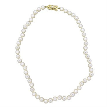thumbnail image of Mikimoto 18k Gold 6.5mm to 6.9mm Pearl Strand Necklace