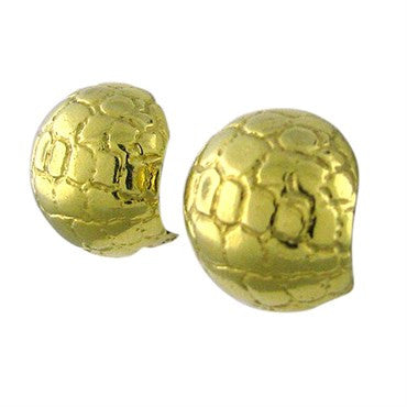 image of Fred Paris 18K Gold Huggies Dome Earrings