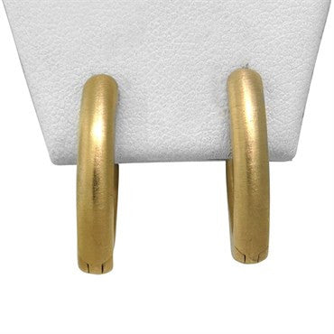 image of New Pomellato 18k Gold Hoop Earrings