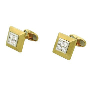 image of ABL Diamond 18K Gold Square Cufflinks