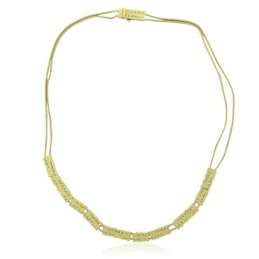 image of H. Stern 18K Yellow Gold Diamond Slide Necklace