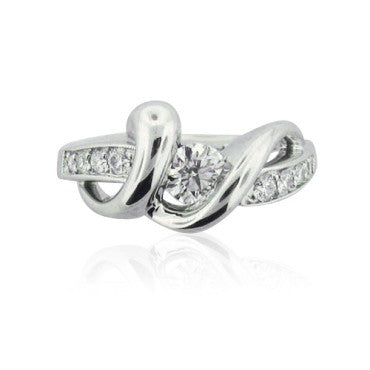 thumbnail image of Hearts On Fire Fusion Swirl Platinum Ring