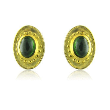 thumbnail image of Seidengang Atherna 18k Gold Green Tourmaline Earrings