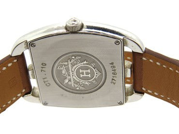 image of Hermes Stainless Steel Cape Cod Tonneau Wrap Bracelet Watch CT1.710