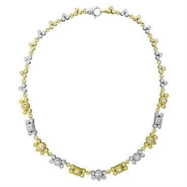 image of Sam Lehr 18k Gold Platinum 3.30ctw Diamond Necklace