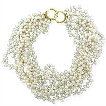 image of Tiffany & Co Picasso 18K Gold Multi Strand Pearl Torsade Necklace