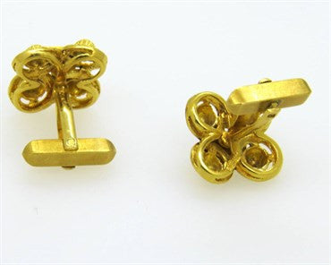 thumbnail image of Spritzer & Furman Enamel Gold Cufflinks