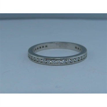 image of Tiffany & Co Platinum Diamond Wedding Ring Eternity