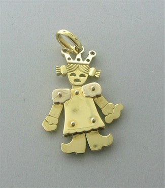 image of Pomellato Contemporary 18K Gold Princess Girl Small Movable Pendant