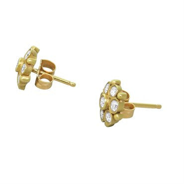 thumbnail image of Temple St. Clair 18K Gold Diamond Earrings