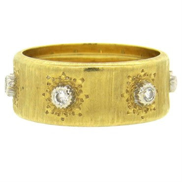 image of Buccellati Diamond Gold Wedding Band Ring