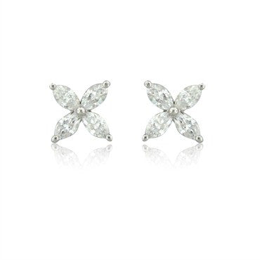 image of Tiffany & Co Victoria Collection Platinum 1.28ctw Diamond Earrings