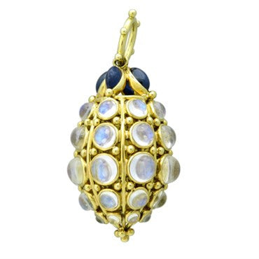 image of Temple St. Clair 18k Yellow Gold Sapphire Blue Moonstone Pendant