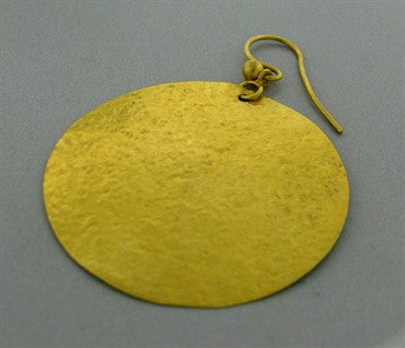 thumbnail image of Gurhan 24k Gold Large Circle Drop Earrings