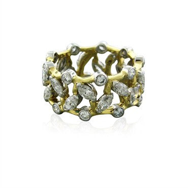 image of Tiffany & Co Jean Schlumberger 2.98ctw Diamond Vigne Ring