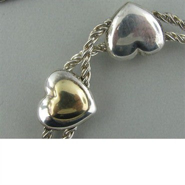 thumbnail image of Estate Tiffany & Co Sterling Double Heart Necklace