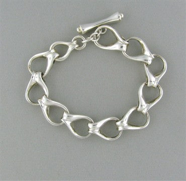 thumbnail image of Tiffany & Co Sterling Silver Link Toggle Bracelet
